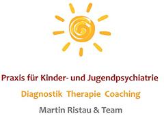 Logo Praxis für Kinder- und Jugendpsychiatrie, Diagnostik, Therapie, Coaching, Martin Ristau & Team
