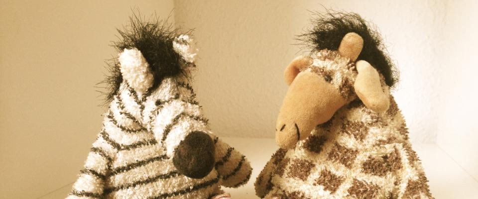 Zebra und Nasi Maskottchen, Praxis Martin Ristau, Kopfbild