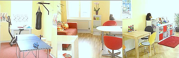 Behandlungsräume, Kinderpsychologe, Jugendpsychologe, Trainingsraum